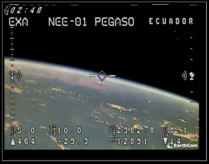 Satélite Pegaso Primer Video desde el Espacio